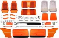 1969 Camaro Coupe Master Deluxe Houndstooth Interior Kit  Orange