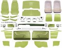 1969 Camaro Convertible Master Deluxe Comfortweave Interior Kit  Moss Green