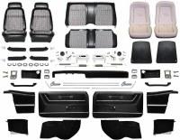 1969 Camaro Convertible Master Deluxe Houndstooth Interior Kit  Black