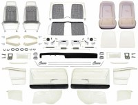 1969 Camaro Convertible Master Deluxe Houndstooth Interior Kit  White