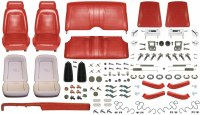1969 Camaro Convertible Monster Standard Interior Kit  Red