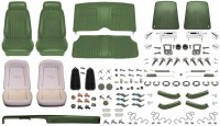 1969 Camaro  Coupe Monster Deluxe Comfortweave Interior Kit  Dark Green