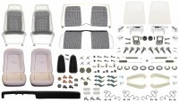 1969 Camaro Coupe Monster Deluxe Houndstooth Interior Kit  White