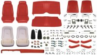 1969 Camaro Convertible Monster Deluxe Comfortweave Interior Kit  Red