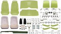 1969 Camaro Convertible Monster Deluxe Comfortweave Interior Kit  Moss Green