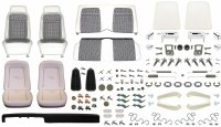 1969 Camaro Convertible Monster Deluxe Houndstooth Interior Kit  White