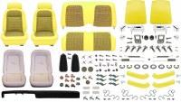 1969 Camaro Convertible Monster Deluxe Houndstooth Interior Kit  Yellow