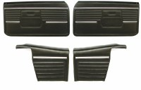 1968 Camaro Convertible Standard Interior Assembled Door Panel Kit  Black