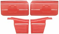 1968 Camaro Convertible Standard Interior Assembled Door Panel Kit  Red