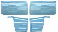 1968 Camaro Convertible Standard Interior Assembled Door Panel Kit  Medium Blue