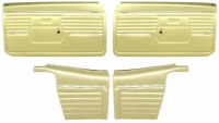 1968 Camaro Convertible Standard Interior Assembled Door Panel Kit  Ivy Gold