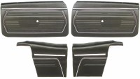 1969 Camaro Convertible Standard Interior Assembled Door Panel Kit  Black
