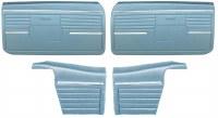 1968 Camaro Convertible Standard Interior Assembled OE Door Panel Kit Med Blue