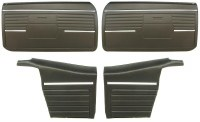 1968 Camaro Convertible Standard Interior Assembled OE Door Panel Kit Black