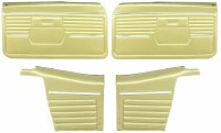 1968 Camaro Convertible Standard Interior Assembled OE Door Panel Kit Ivy Gold