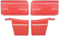 1968 Camaro Convertible Standard Interior Assembled OE Door Panel Kit Red