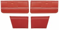 1967 Camaro Convertible Standard Interior Assembled Door Panel Kit  Red
