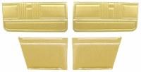 1967 Camaro Convertible Standard Interior Assembled Door Panel Kit  Gold