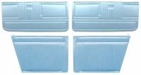1967 Camaro Convertible Standard Interior Unassembled  Door Panel Kit Light Blue