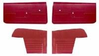 1968 Camaro Convertible Standard Interior Unassembled  Door Panel Kit Red