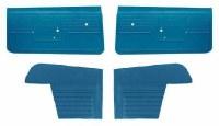 1968 Camaro Convertible Standard Interior Unassembled  Door Panel Kit Med Blue