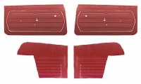 1969 Camaro Convertible Standard Interior Unassembled  Door Panel Kit Red