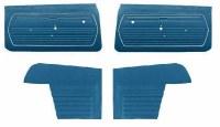 1969 Camaro Convertible Standard Interior Unassembled  Door Panel Kit Dark Blue