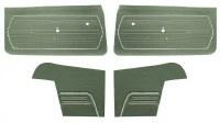 1969 Camaro Convertible Standard Interior Unassembled  Door Panel Kit Dark Green