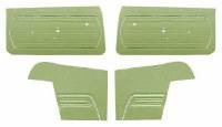1969 Camaro Convertible Standard Interior Unassembled  Door Panel Kit Moss Green