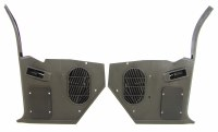 67 68 Camaro & Firebird Kick Panels OE Style w/Factory Speaker Grilles Pair