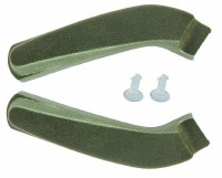1969 1970 Camaro & Firebird Bucket Seat Hinge Covers OE Quality Dark Green Pair