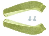 1969 Camaro & Firebird Bucket Seat Hinge Covers OE Quality Moss Green Pair