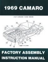 1969 Camaro Factory Assembly Manual OE Quality! USA!