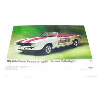 1969 Camaro Indy Pace Car Poster
