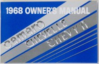 1968 Camaro Factory Owners Manual OE Quality! Printed In The USA!