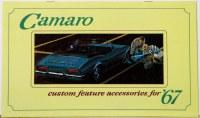 1967 Camaro Custom Feature Accessories Pamphlet
