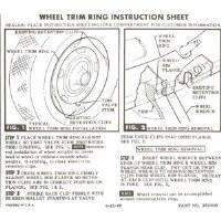 67-72 Camaro Rally Wheel Trim Ring Instruction Card GM# 3913382