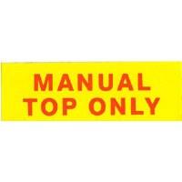 67 68 69 Camaro & Firebird Manual Convertible Top Decal