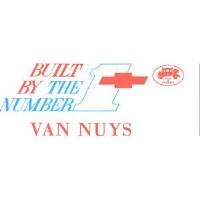 1967 1968 Camaro & Firebird Number #1 Team Van Nuys Window Card