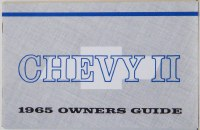 1965 Chevy II Nova Factory Owners Manual OE Quality! Printed In The USA!