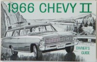1966 Chevy II Nova Factory Owners Manual OE Quality! Printed In The USA!