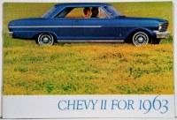 1963 Chevy II Nova Dealer Showroom Sales Brochure  OE Quality!