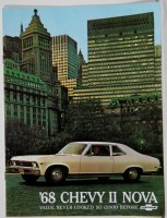 1968 Chevy II Nova Dealer Showroom Sales Brochure  OE Quality!