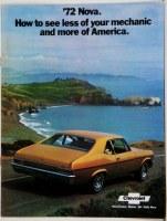 1972 Nova Dealer Showroom Sales Brochure  OE Quality!