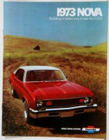 1973 Nova Dealer Showroom Sales Brochure  OE Quality!