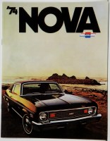 1974 Nova Dealer Showroom Sales Brochure  OE Quality!