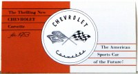 1953 Corvette Dealer Showroom Sales Brochure  OE Quality!