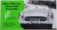 1955 Corvette Dealer Showroom Sales Brochure  OE Quality!