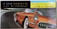 1956 Corvette Dealer Showroom Sales Brochure  OE Quality!