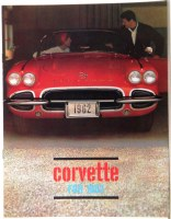 1962 Corvette Dealer Showroom Sales Brochure  OE Quality!